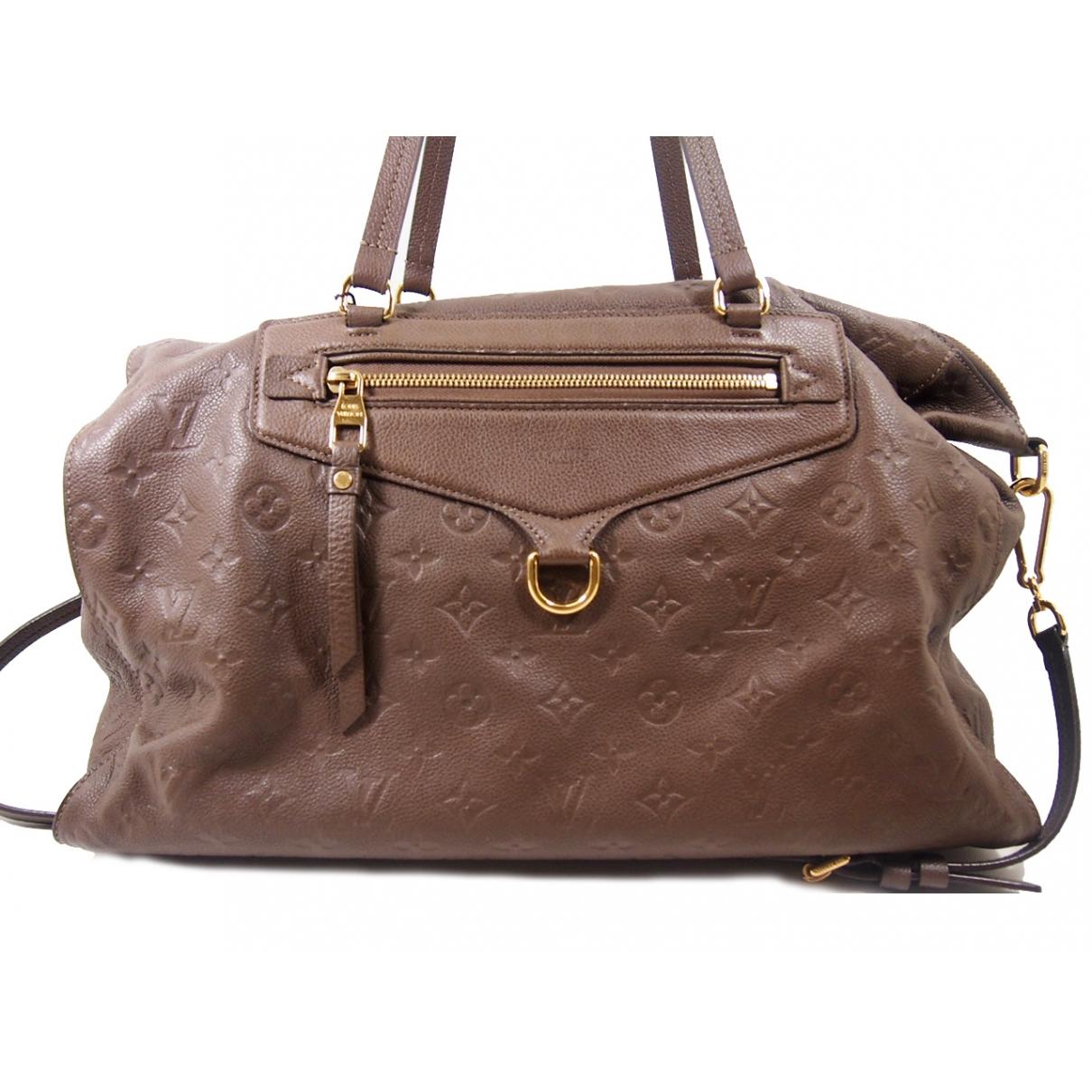 Louis Vuitton Lumineuse Handtasche in  Braun Leder