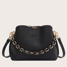 Simple Chain Bucket Bag