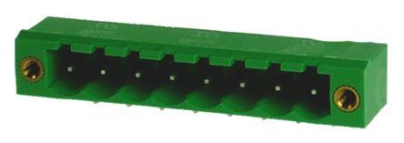 RS PRO , 8 Way, 1 Row, Right Angle PCB Terminal Block Header (10)