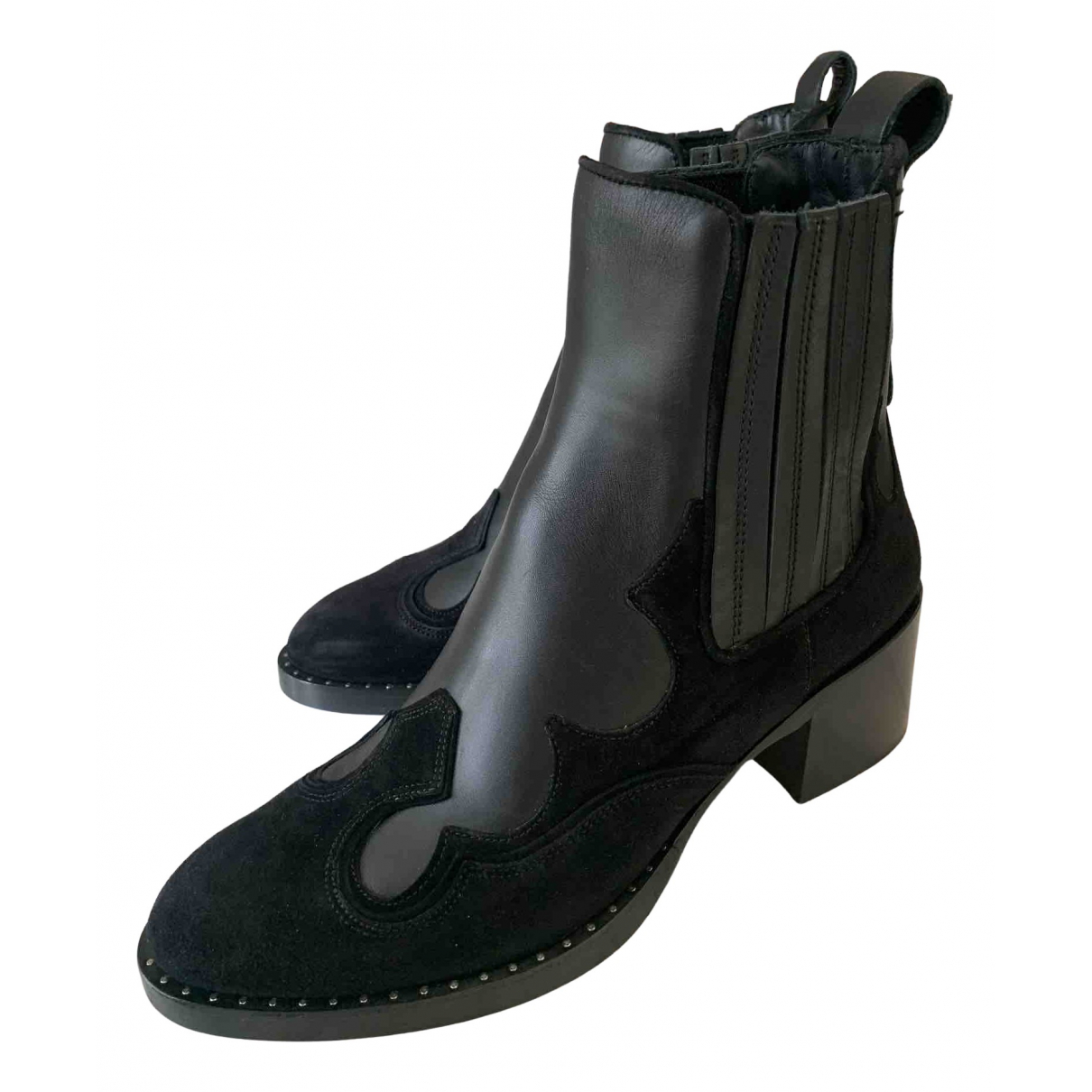 Carshoe \N Black Leather Boots for Women 37 EU