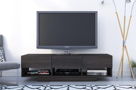 Nexera 105130 Rustik Collection TV Stand 60-inch with 3 Drawers and 3 Open Spaces  Easy Wire Access  in