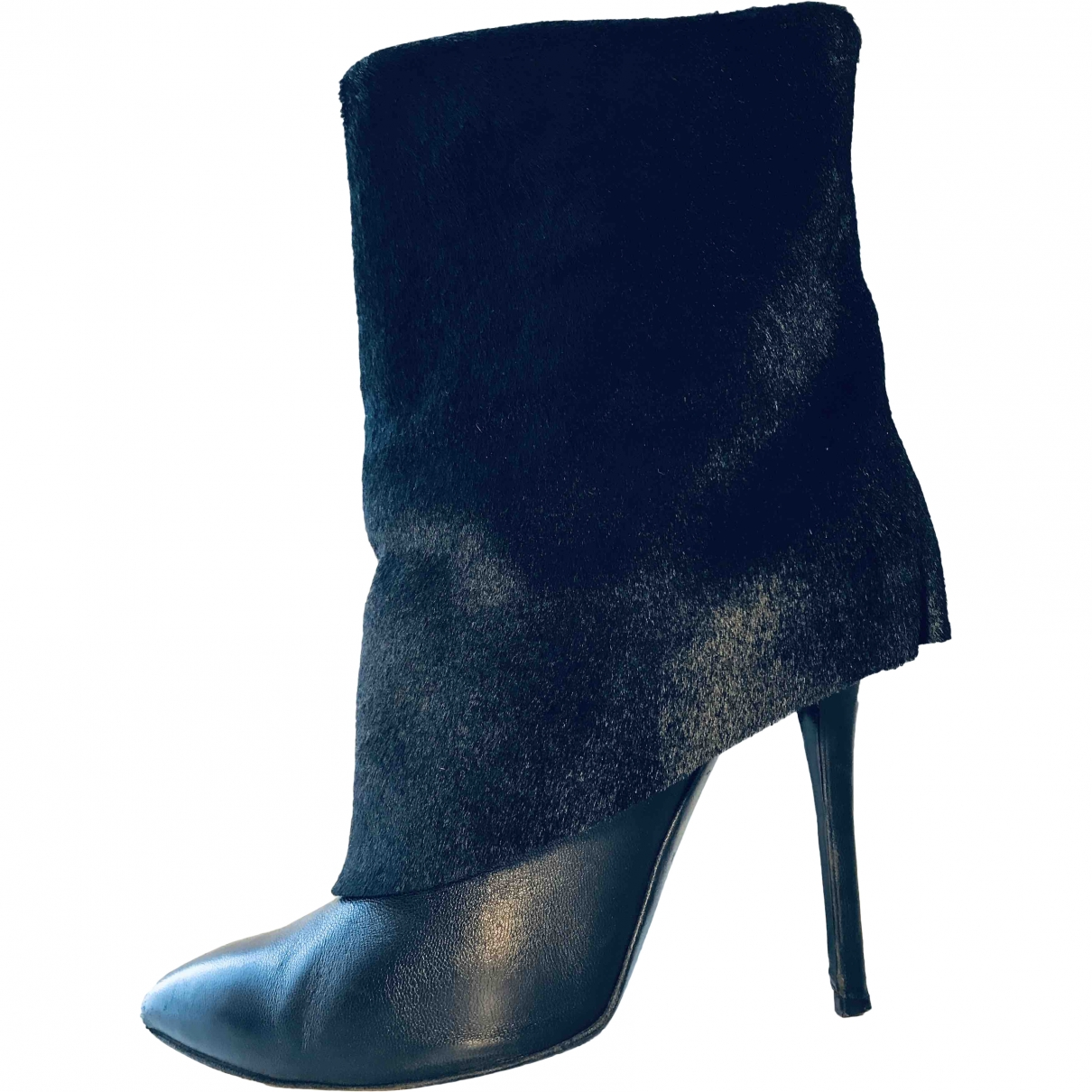 Giuseppe Zanotti \N Black Pony-style calfskin Ankle boots for Women 38 EU