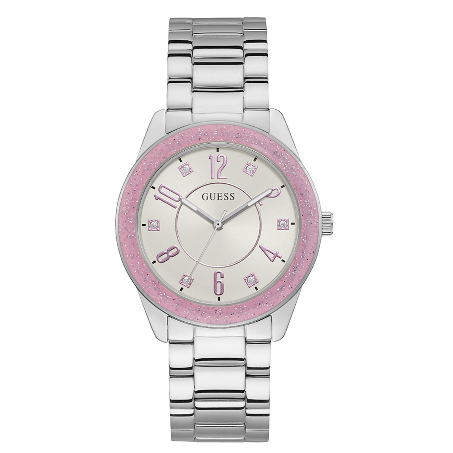 Guess Women's Capri U1238L1 Silver Stainless-Steel Quartz Fashion Watch