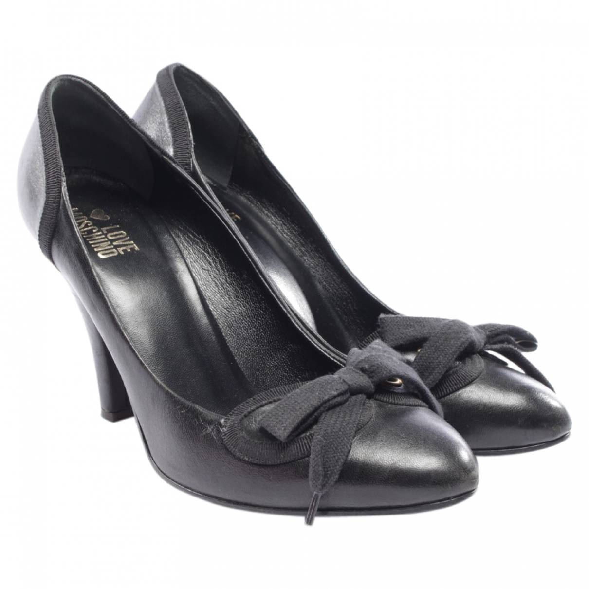 Moschino Love \N Black Leather Heels for Women 40.5 EU