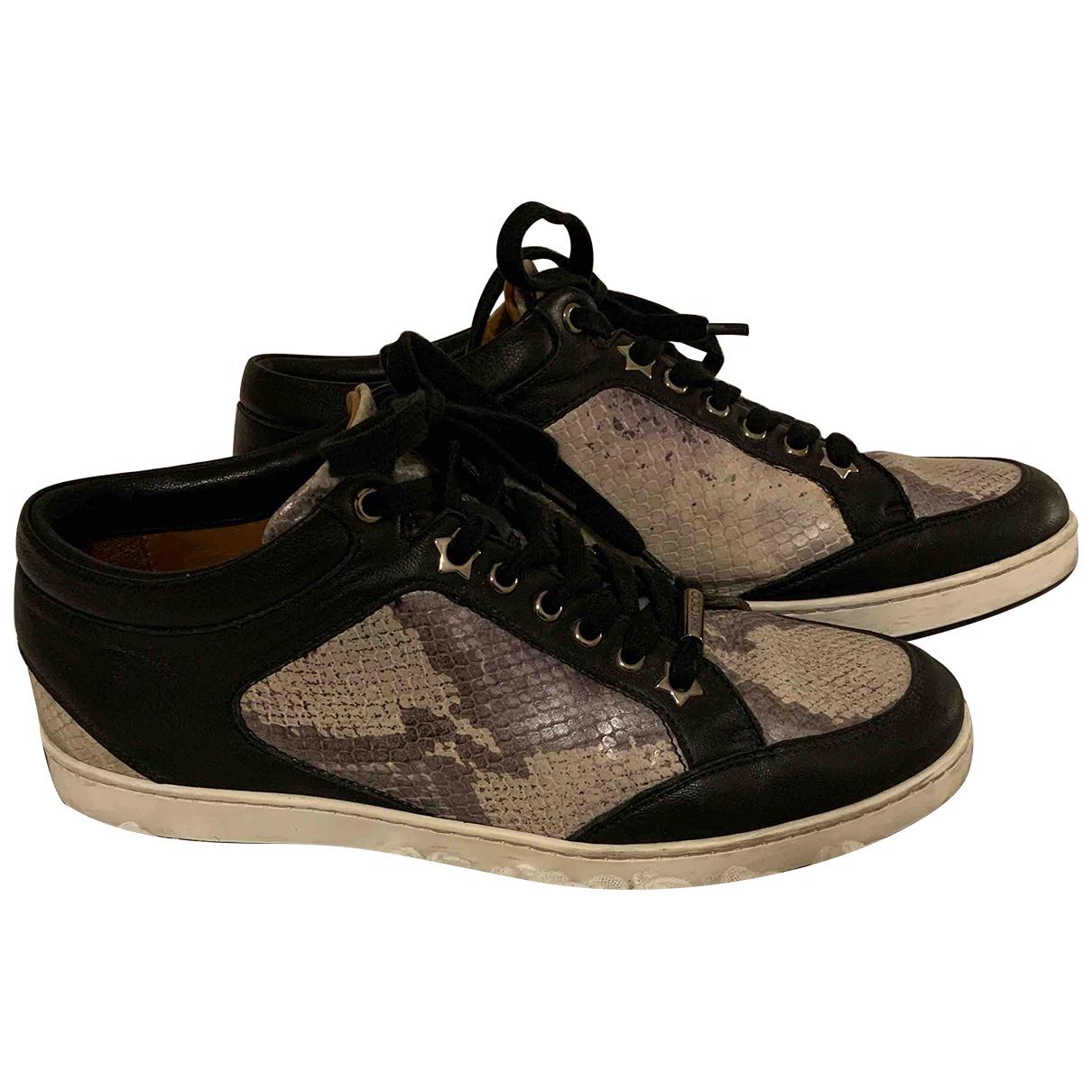 Jimmy Choo \N Sneakers in  Anthrazit Leder