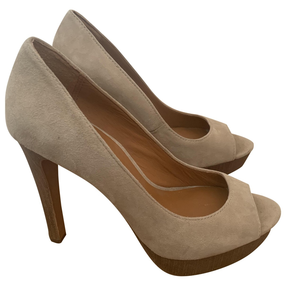 Ash \N Beige Suede Sandals for Women 37 EU