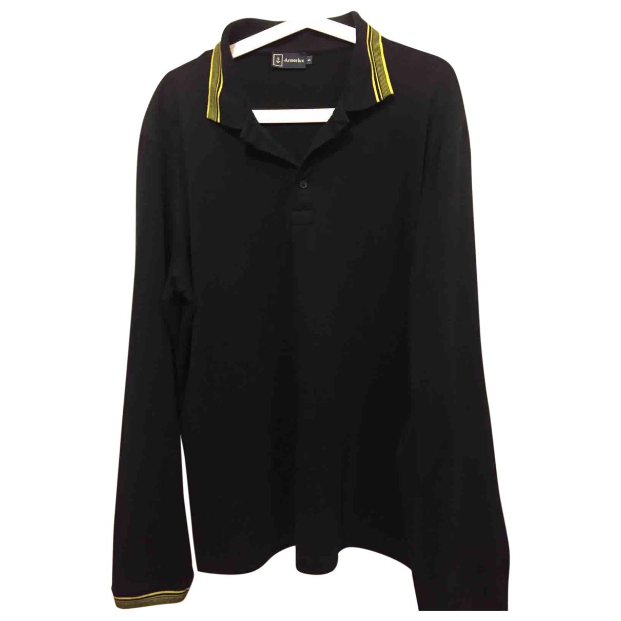 Armor-lux - Polos   pour homme en coton - noir