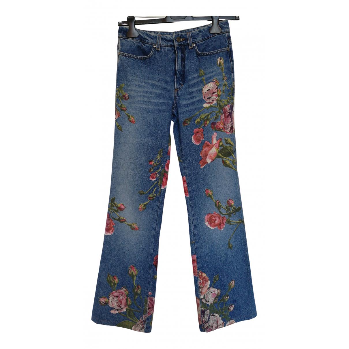 Roberto Cavalli \N Blue Denim - Jeans Trousers for Women S International