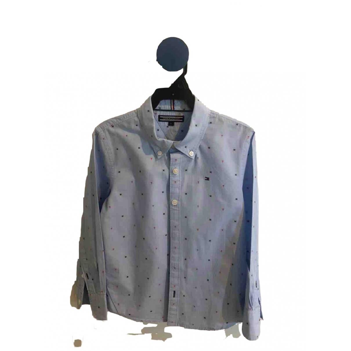 Tommy Hilfiger - Top   pour enfant en coton - bleu