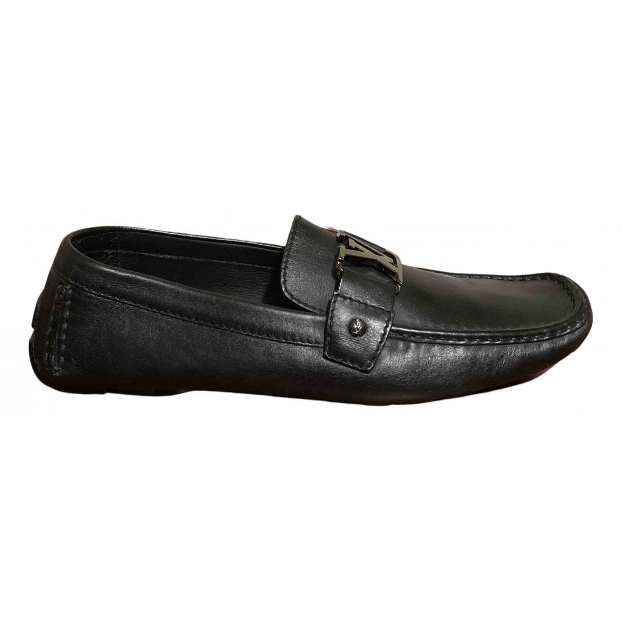 Louis Vuitton - Mocassins Monte Carlo pour homme en cuir - noir