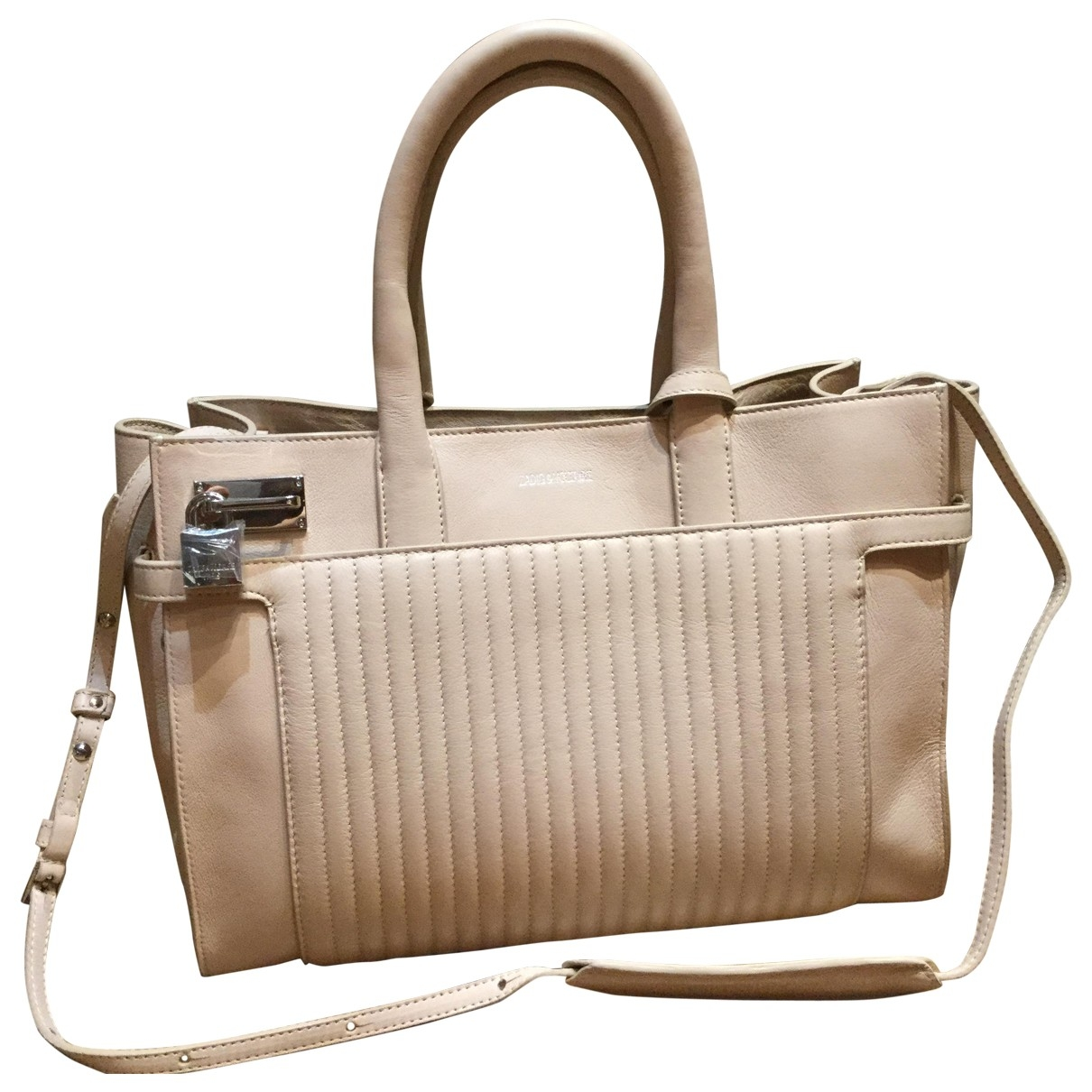 Zadig & Voltaire Candide Beige Leather handbag for Women \N