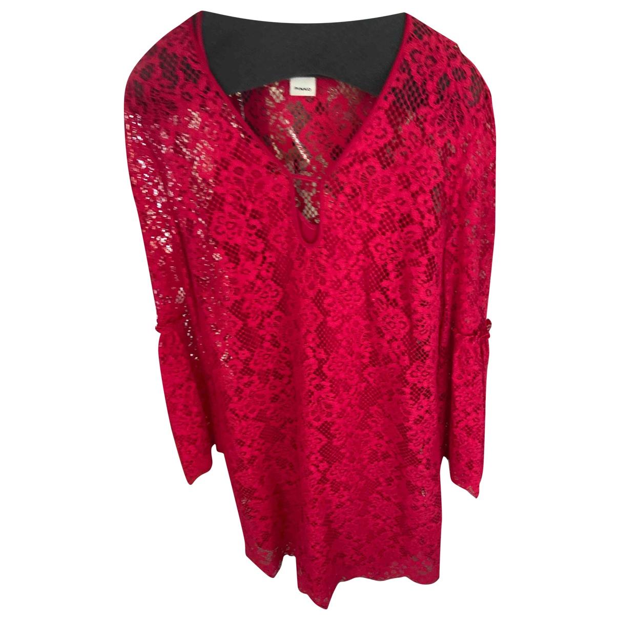Pinko \N Kleid in  Rot Spitze