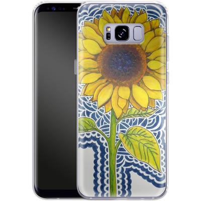 Samsung Galaxy S8 Plus Silikon Handyhuelle - Sunflower Drawing von Kaitlyn Parker