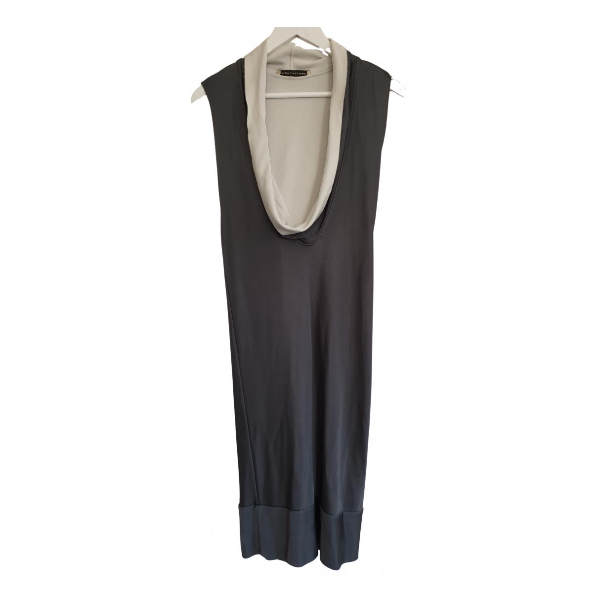 Balenciaga \N Kleid in  Anthrazit Viskose