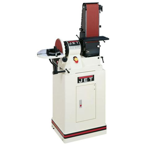 Jet 6 In. x 48 In. Belt / 9 In. Disc Sander with Closed Stand, 3/4 HP 1Ph, 115 V