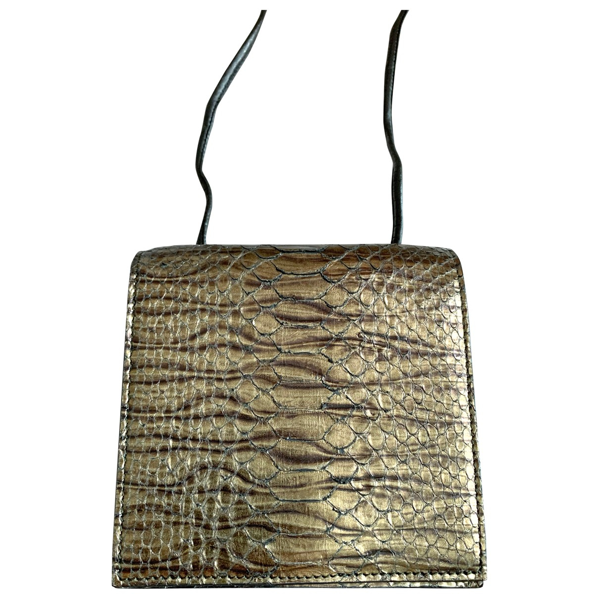 Yves Saint Laurent \N Gold Python handbag for Women \N