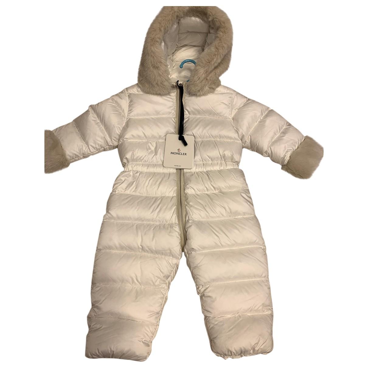 Moncler - Blousons.Manteaux Fur Hood pour enfant en fourrure - blanc