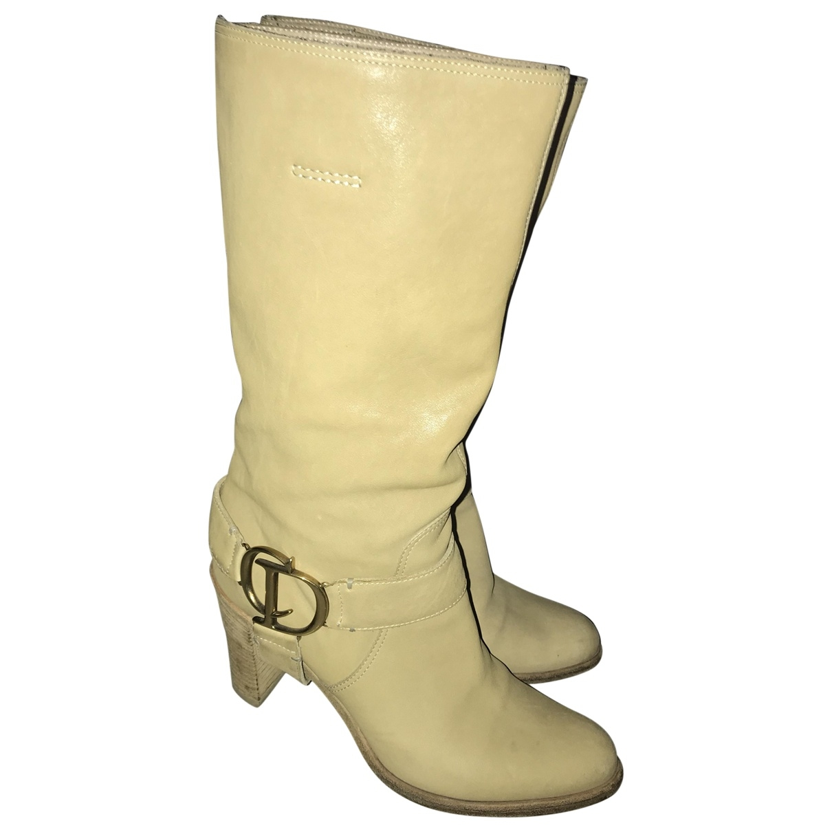 Dior \N Stiefel in  Beige Leder