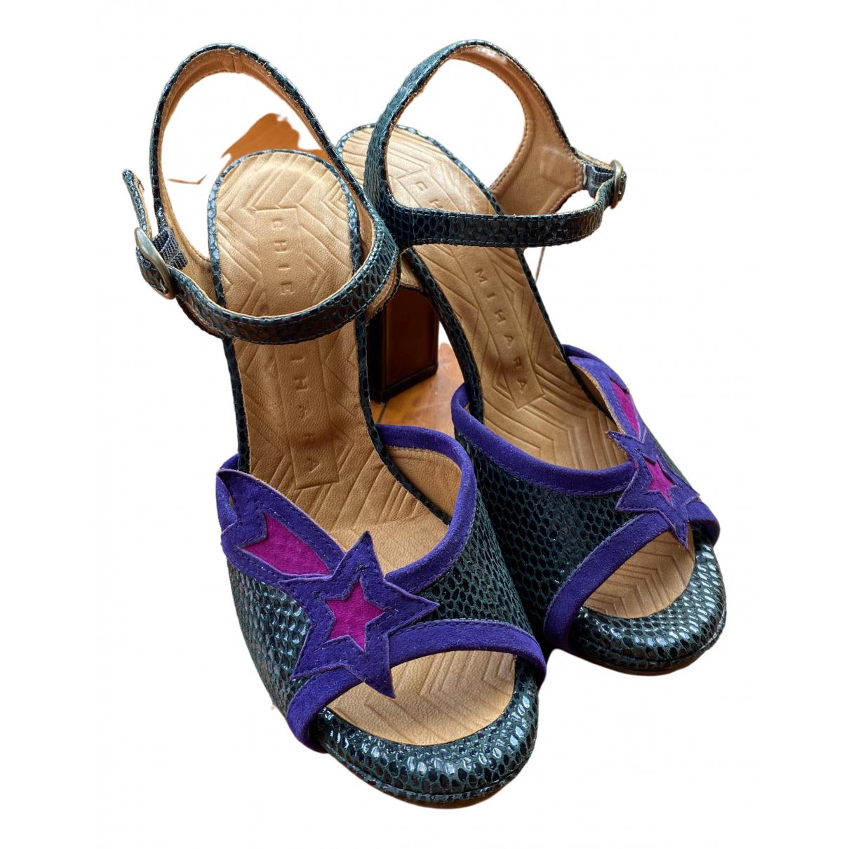 Chie Mihara \N Sandalen in  Gruen Leder