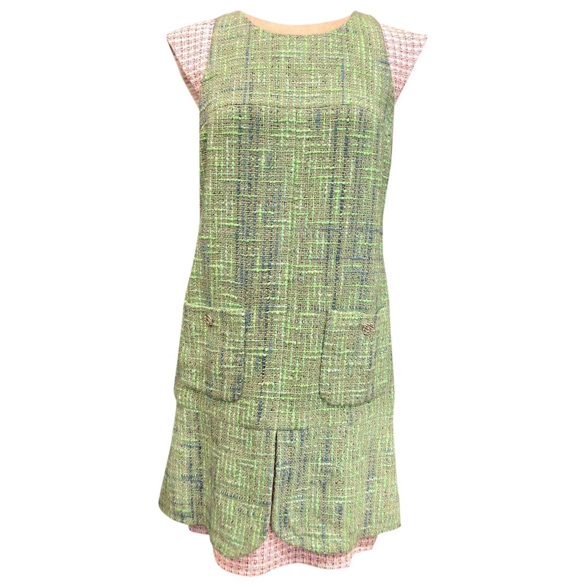 Chanel - Robe   pour femme en coton - vert