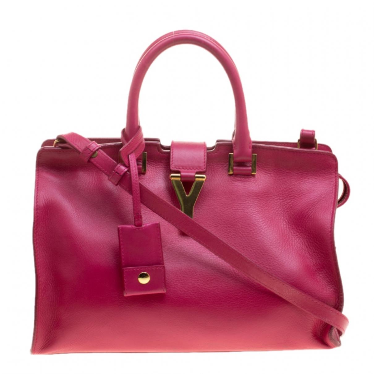Saint Laurent - Sac a main Chyc pour femme en cuir - rose