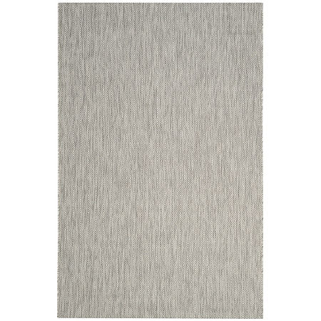 Safavieh Courtyard Collection Monroe Stripe Indoor/Outdoor Area Rug, One Size , Gray