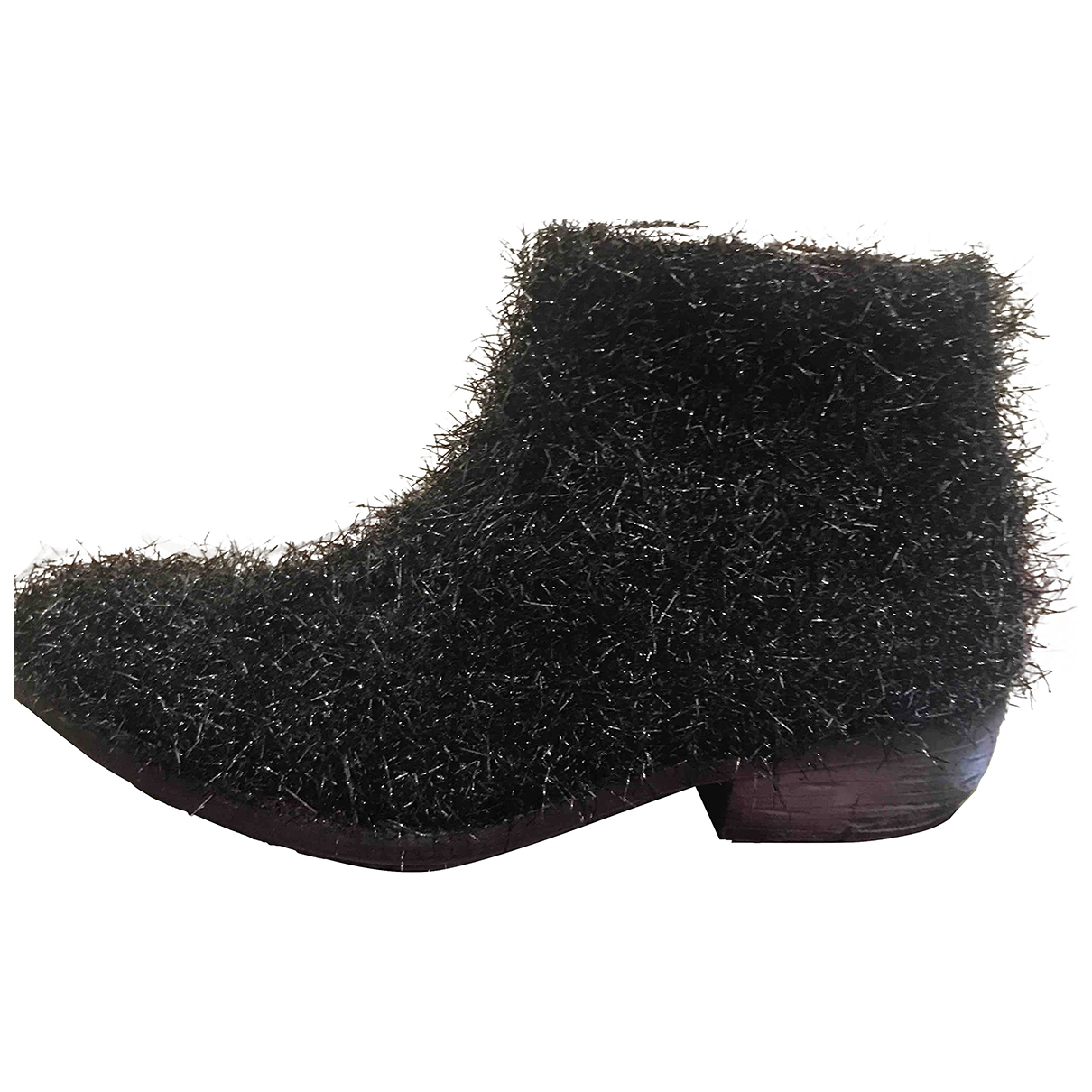 Non Signé / Unsigned \N Black Cloth Ankle boots for Women 37 IT