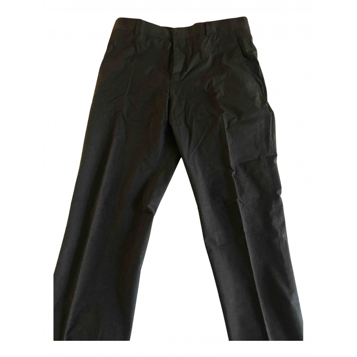 Pantalones en Algodon Gris Marni