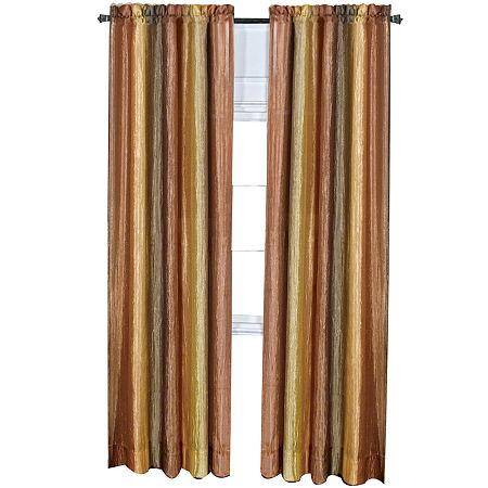 Ombre Light-Filtering Rod-Pocket Single Curtain Panel, One Size , Orange