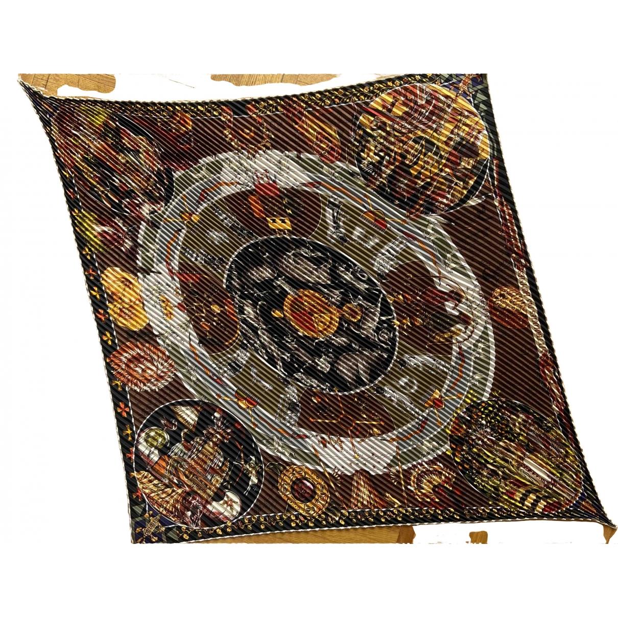 Hermes - Carre Plisse pour femme en soie - multicolore