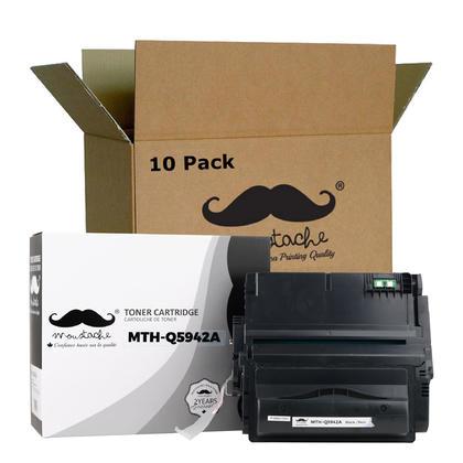 Compatible HP 42A Q5942A Black Toner Cartridge - Moustache - 10/Pack