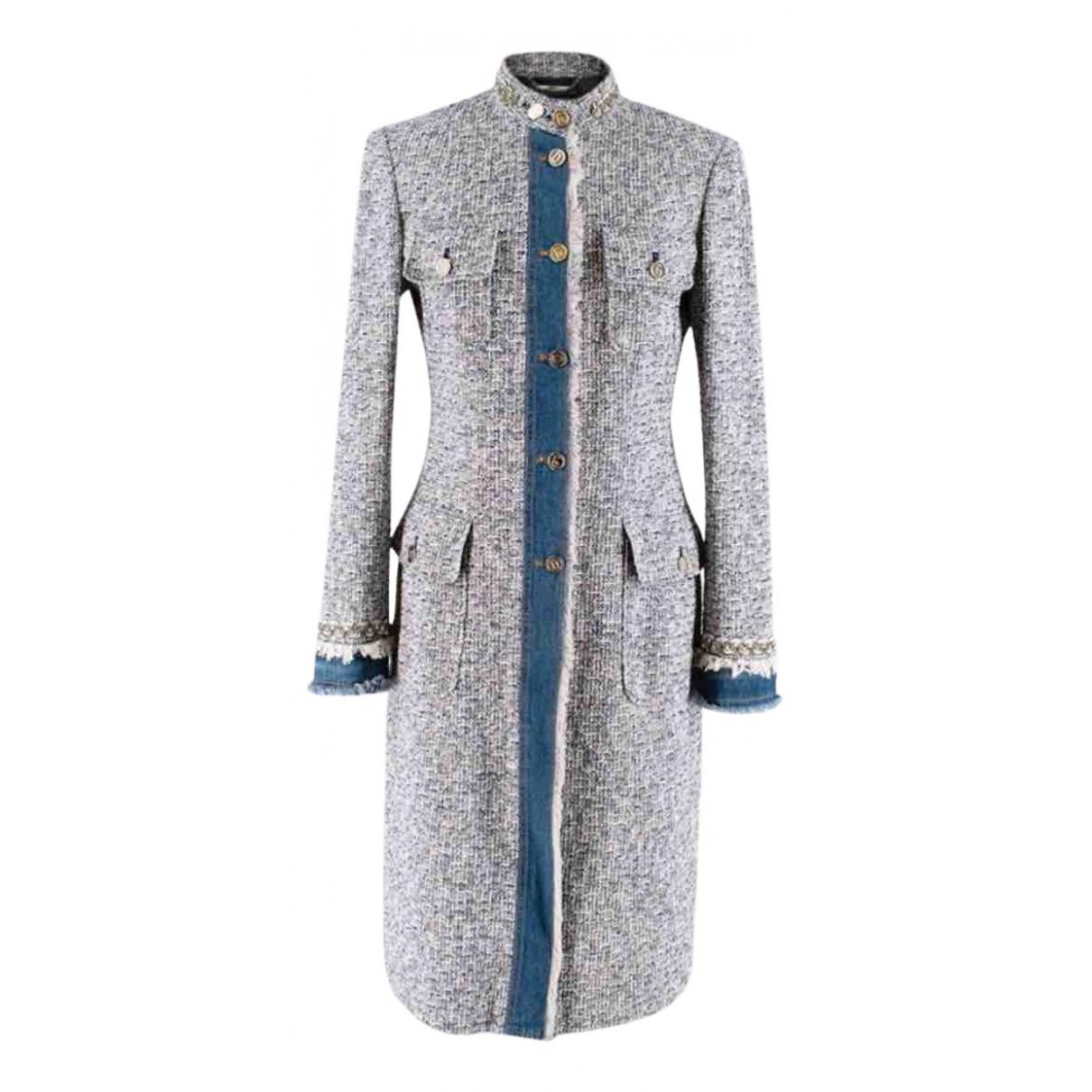 Dolce & Gabbana - Manteau   pour femme en tweed - bleu