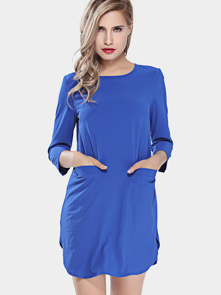 Yoins 3/4 Length Sleeves Mini Dress