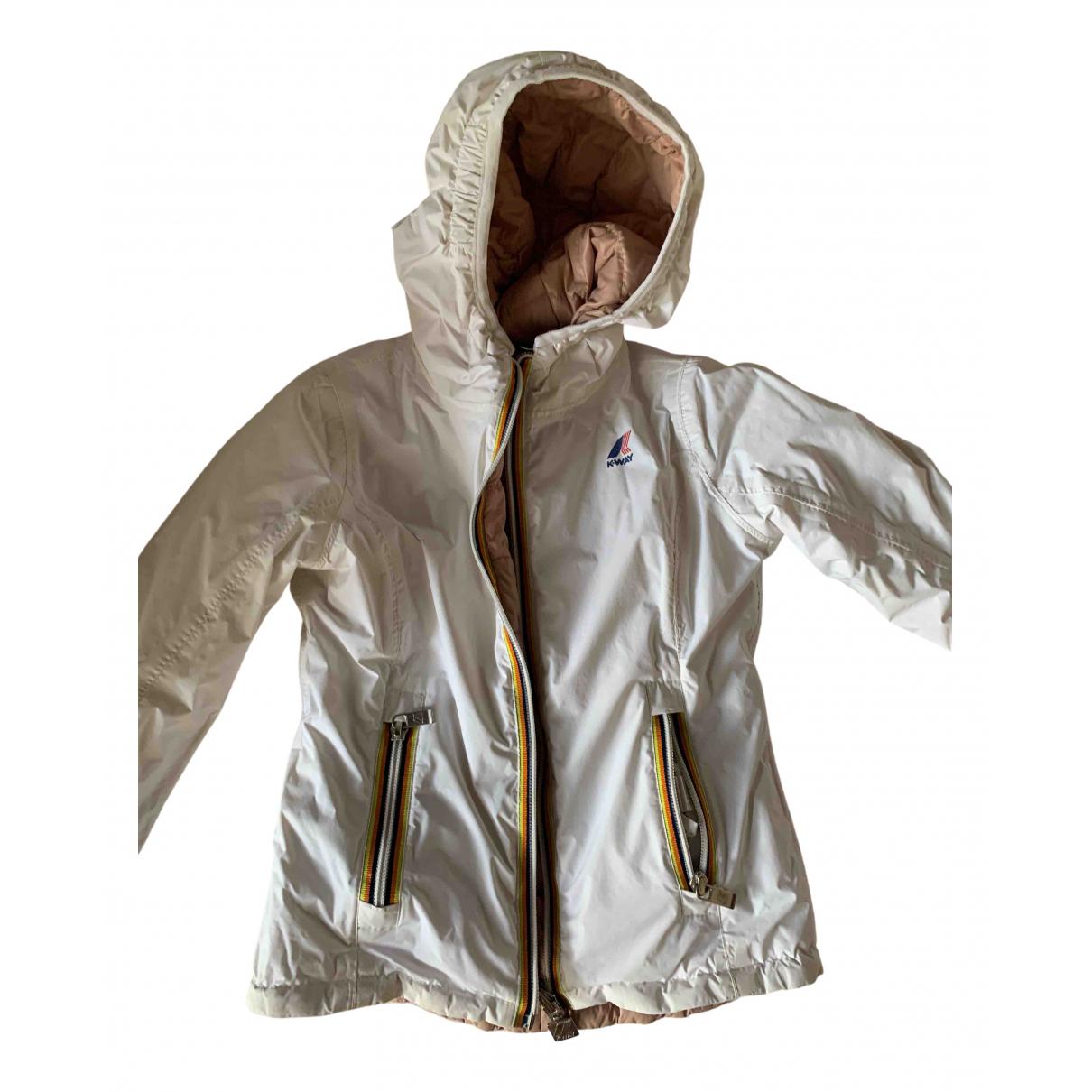 K-way - Blousons.Manteaux   pour enfant - blanc