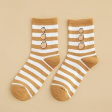 Socken mit Obst & Streifen Muster
