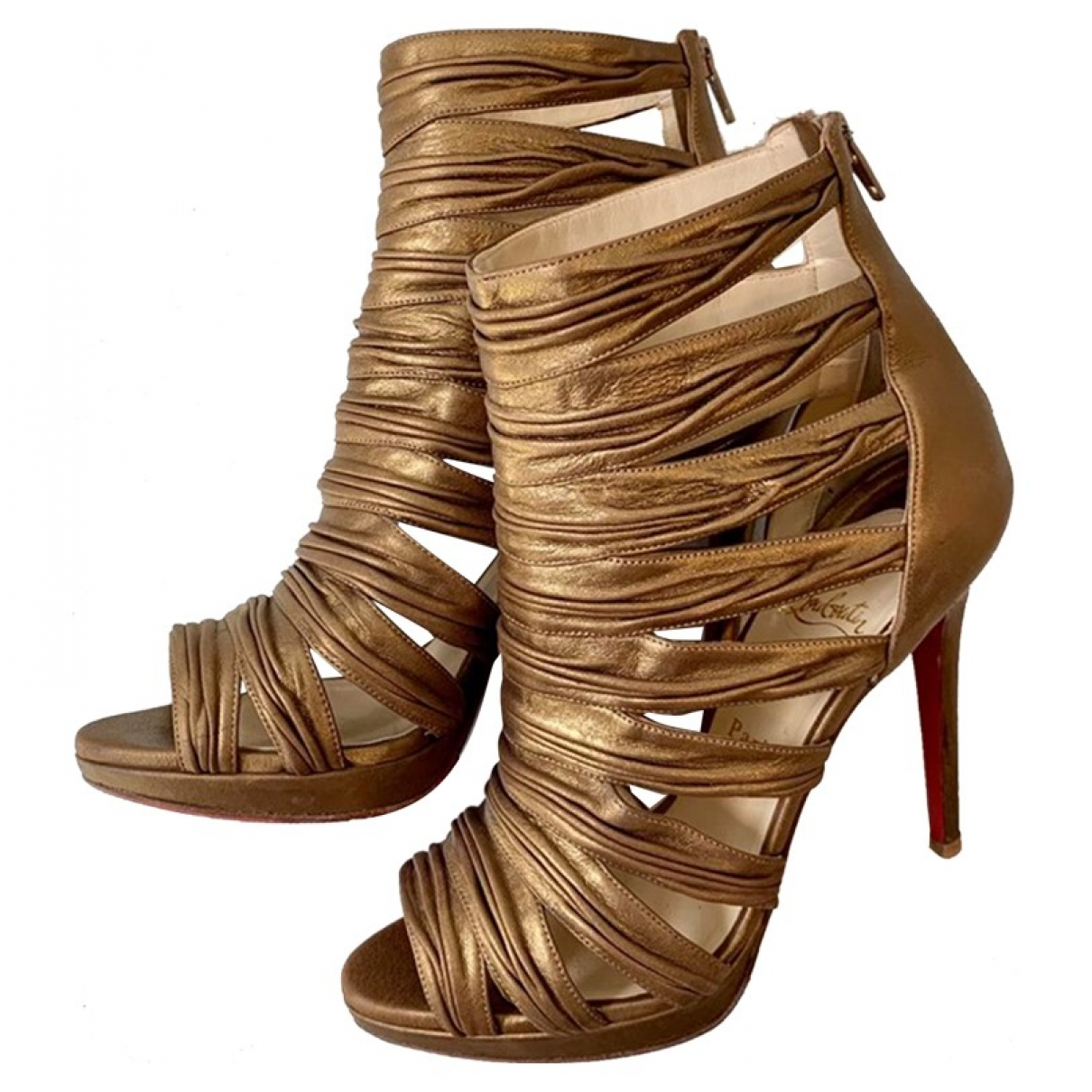 Christian Louboutin \N Metallic Leather Ankle boots for Women 40 IT