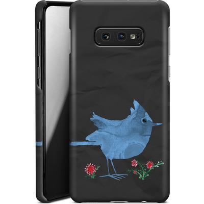 Samsung Galaxy S10e Smartphone Huelle - Watercolour Bird Black von caseable Designs