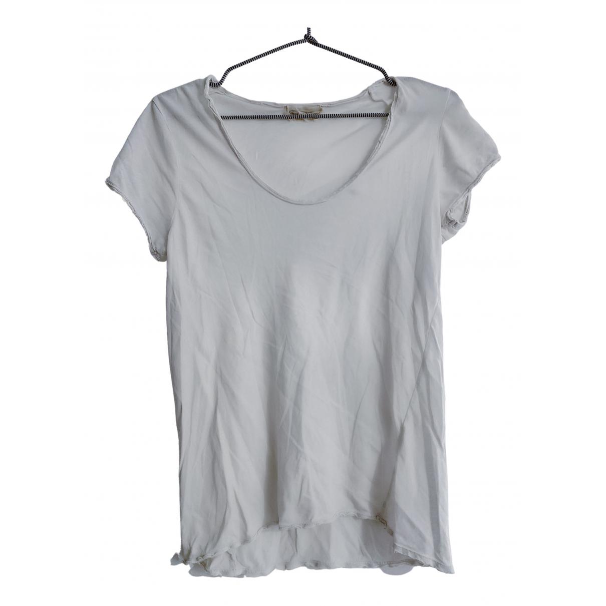 American Vintage - Top   pour femme en coton - blanc