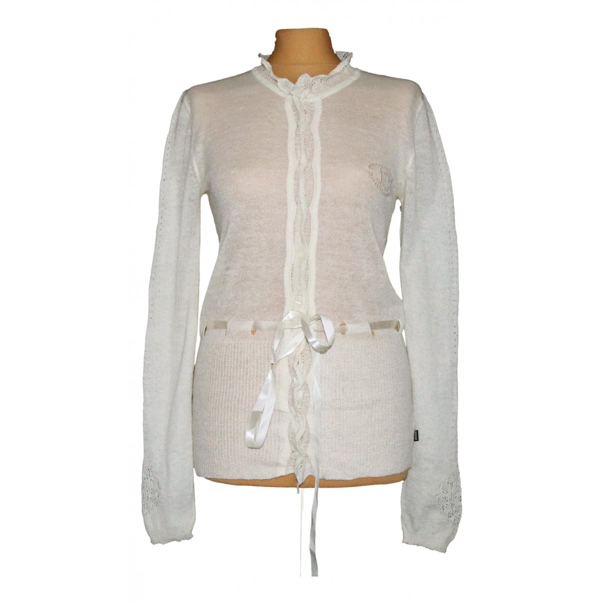Just Cavalli N Ecru Wool Knitwear for Women 44 IT