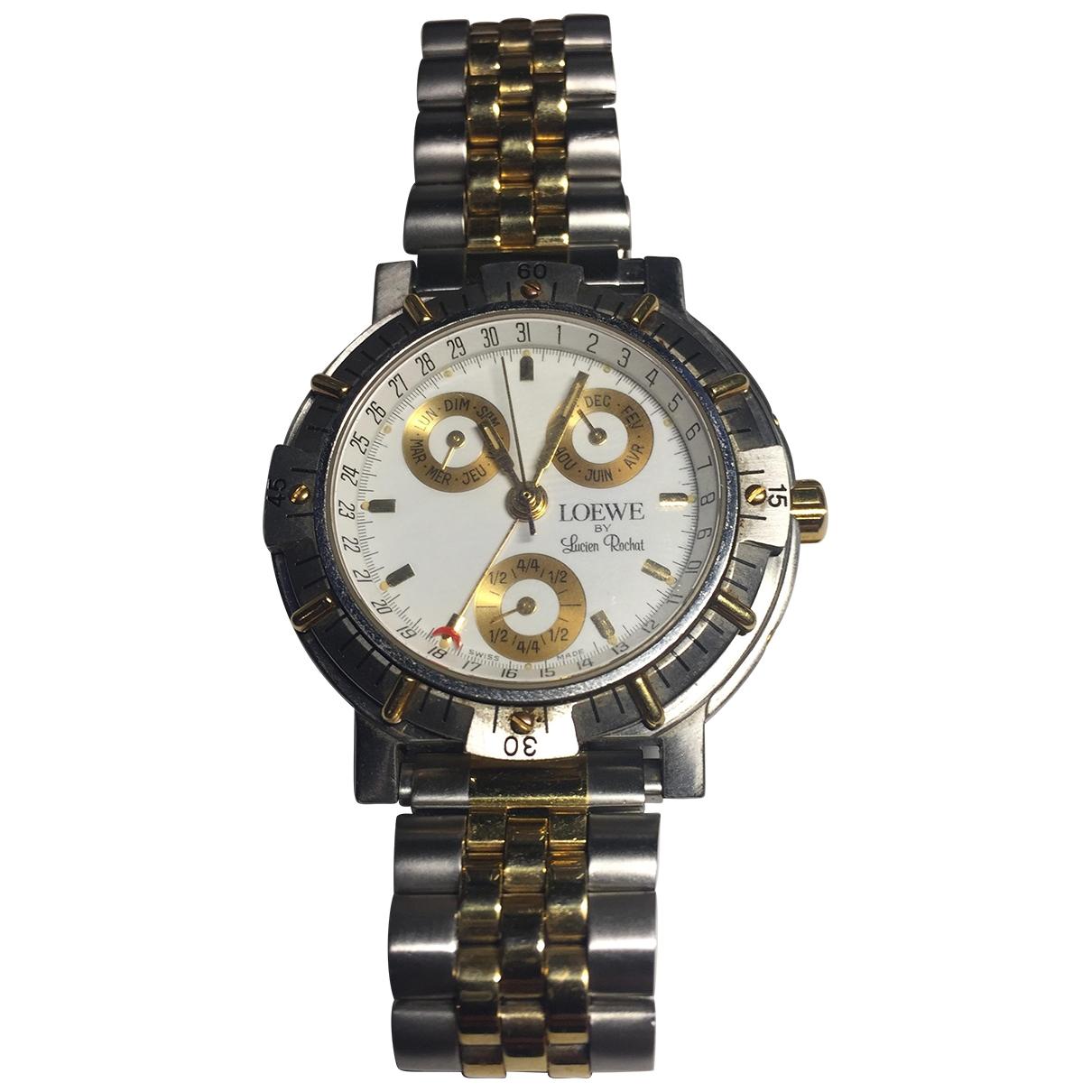 Loewe \N Silver gold and steel watch for Men \N