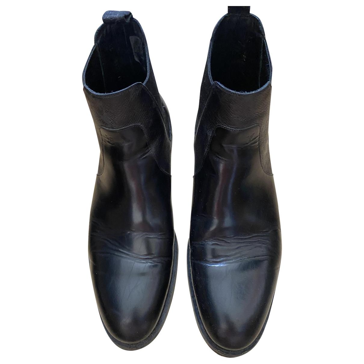 Louis Vuitton - Bottes.Boots   pour homme en cuir - noir