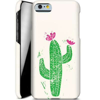 Apple iPhone 6s Smartphone Huelle - Linocut Cacti von Bianca Green