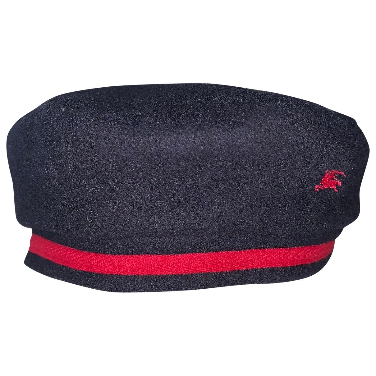 Burberry \N Navy Wool hat & Gloves for Kids \N