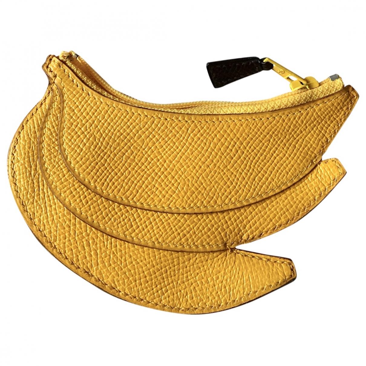 Hermes \N Kleinlederwaren in  Gelb Leder