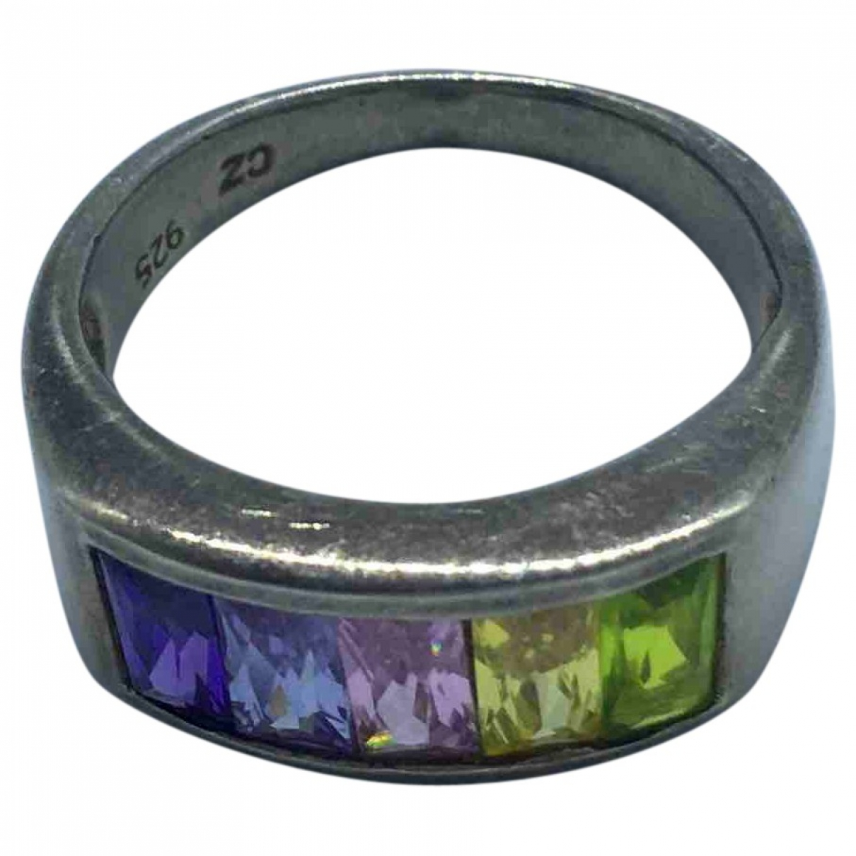Non Signe / Unsigned \N Ring in  Bunt Silber