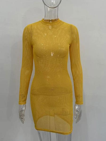 Milanoo La ropa interior de vestir de malla y vestido sexy transparente no esta incluida