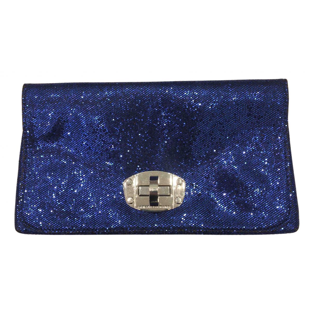 Emporio Armani \N Clutch in  Blau Mit Pailletten