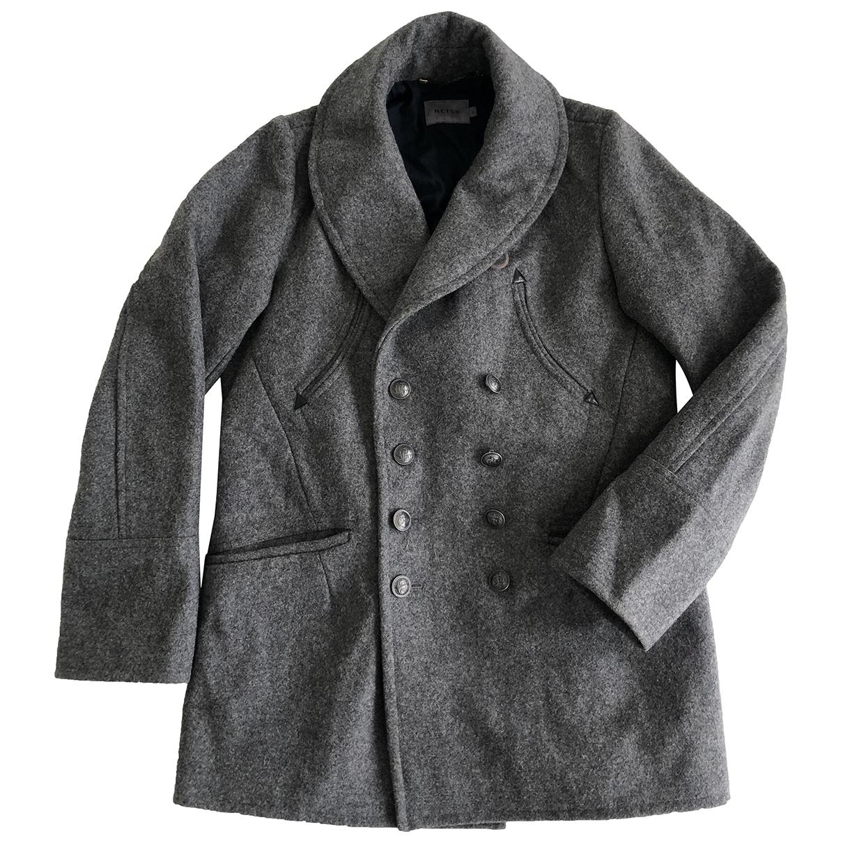 Reiss - Manteau   pour homme en laine - gris