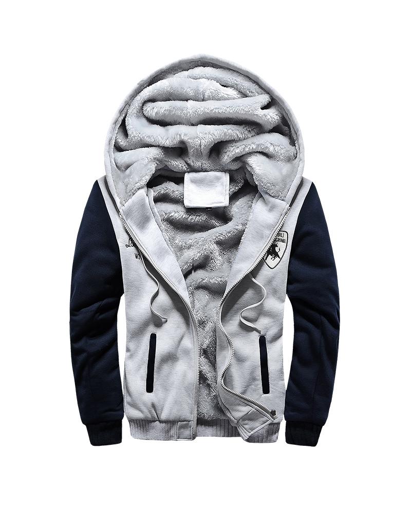 Loose Model Casual Style V-Neck Pocket Print Down Coat