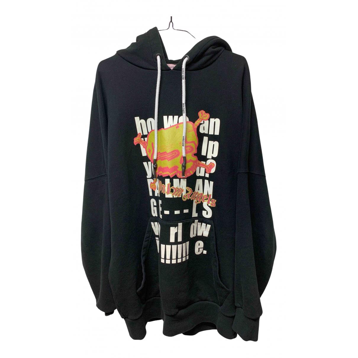 Palm Angels \N Pullover.Westen.Sweatshirts  in  Schwarz Baumwolle